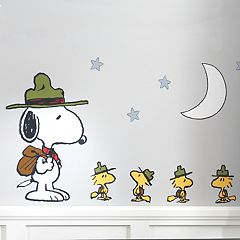Lambs & Ivy Peanuts Snoopy's Campout Wall Applique Set