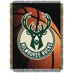 Milwaukee Bucks Logo Throw Blanket