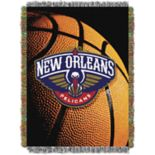 New Orleans Pelicans Logo Throw Blanket