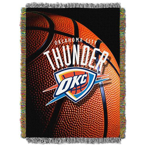 Oklahoma City Thunder Logo Throw Blanket