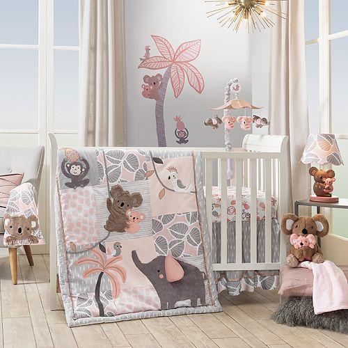 Lambs & Ivy 4-pc. Calypso Jungle Animal Crib Bedding Set