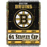 Boston Bruins Commemorative Series Throw Blanket