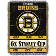 Boston Bruins Commemorative Series Throw Blanket