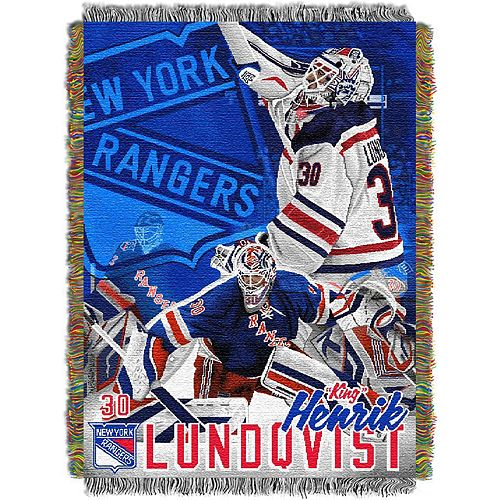New York Rangers Henrik Lundqvist Throw Blanket