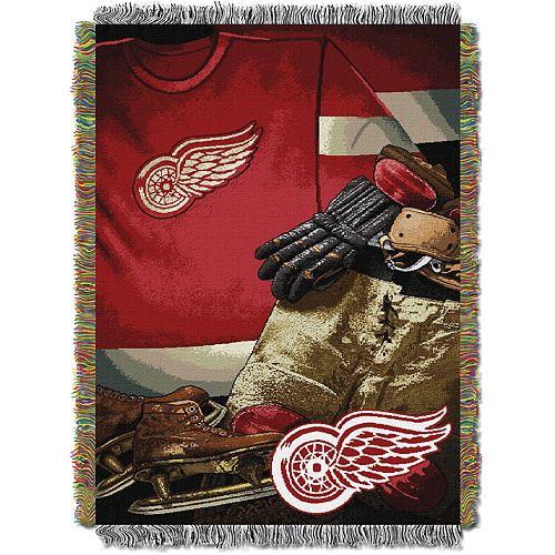 Detroit Red Wings Vintage Throw Blanket