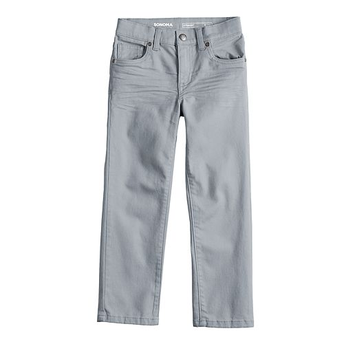 Boys 4-12 SONOMA Goods for Life™ Straight Comfy Waist Pants in Regular, Slim & Husky