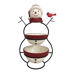 St. Nicholas Square® Yuletide Snowman 2-Tier Server