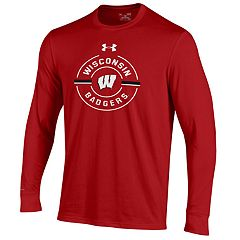 Men's Under Armour Wisconsin Badgers Charged Long-Sleeve Tee