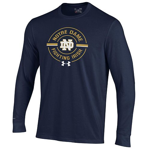 Men's Under Armour Notre Dame Fighting Irish Charged Long-Sleeve Tee
