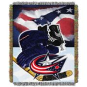 Columbus Blue Jackets Home Ice Advantage Throw Blanket