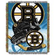 Boston Bruins Home Ice Advantage Throw Blanket