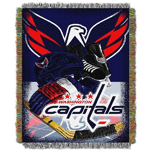 Washington Capitals Home Ice Advantage Throw Blanket