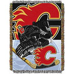 Calgary Flames Home Ice Advantage Throw Blanket