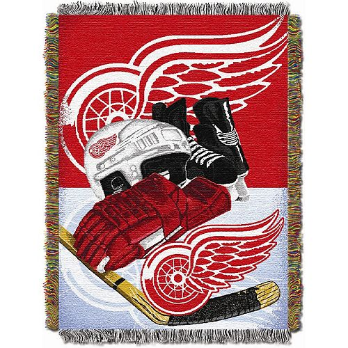 Detroit Red Wings Home Ice Advantage Throw Blanket