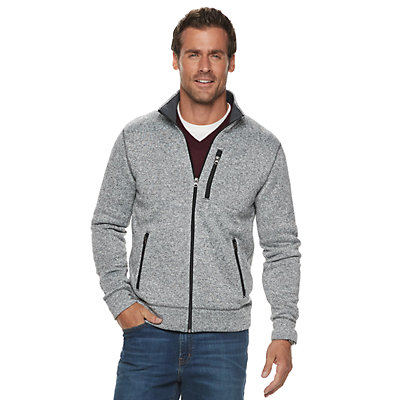 Men's SONOMA Goods for Life? Modern-Fit Sweater Fleece Zip Jacket