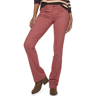 Women's SONOMA Goods for Life? Midrise Sateen Bootcut Pants