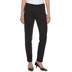 Petite Croft & Barrow® Easy Care Straight-Leg Ponte Pants