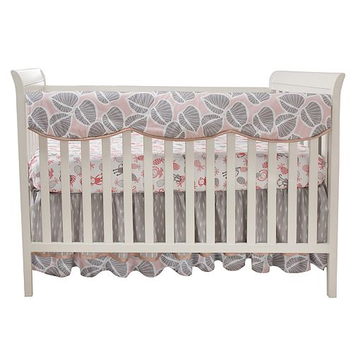 Lambs & Ivy Calypso Leaf Print Crib Rail Cover