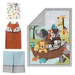 Lambs & Ivy 4-pc. Two of a Kind Crib Bedding Set