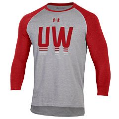 Men's Under Armour Wisconsin Badgers Baseball Tee