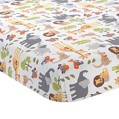 Lambs & Ivy Two of a Kind Fitted Crib Sheet