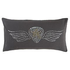 Rizzy Home Andrew Charles Black Star Transitional Oblong Throw Pillow