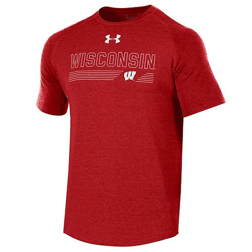 Men's Under Armour Wisconsin Badgers Long Line Tee
