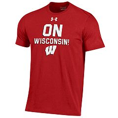e611c64ed9 Men s Under Armour Wisconsin Badgers Charged Tee