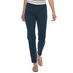 Petite Croft & Barrow® Easy Care Pull-On Ponte Pants