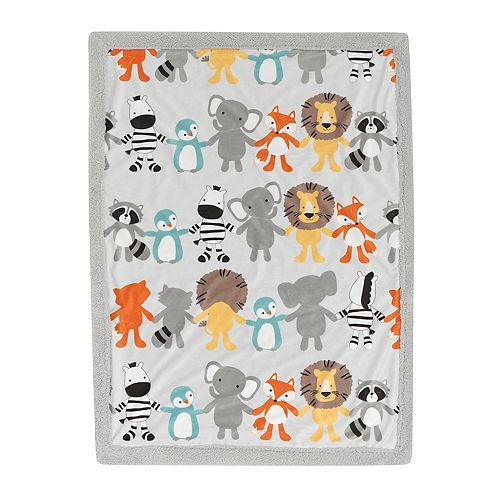Lambs & Ivy Two of a Kind Plush Blanket
