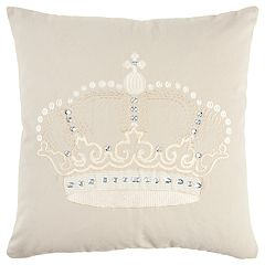 Rizzy Home Andrew Charles Ivory Crown Transitional Throw Pillow