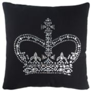 Rizzy Home Andrew Charles Black Crown Transitional Throw Pillow