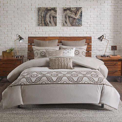 INK+IVY Anira 3-piece Cotton Duvet Cover Set
