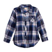 Girls 4-12 Jumping Beans® Lurex Plaid Shirt
