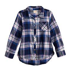 Girls 4-12 Jumping Beans® Lurex Plaid Shirt
