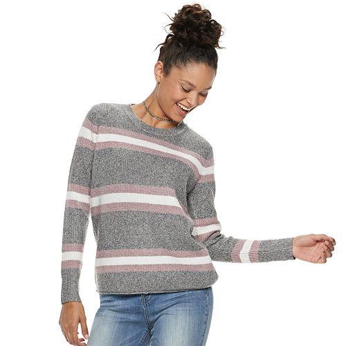 Juniors' Pink Republic Striped Sweater