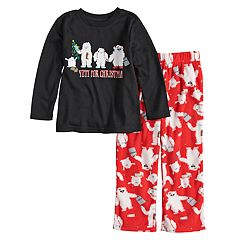 Toddler Jammies For Your Families 'Yeti For Christmas' Top & Microfleece Bottoms Pajama Set