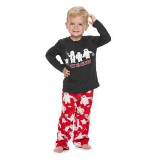 "Toddler Jammies For Your Families ""Yeti For Christmas"" Top & Microfleece Bottoms Pajama Set"