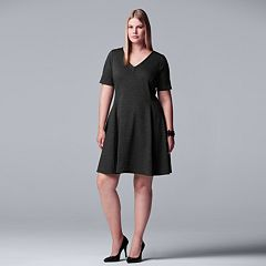 Plus Size Simply Vera Vera Wang Fit & Flare Dress