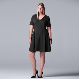 Plus Size Simply Vera Vera Wang Fit & Flare Dress