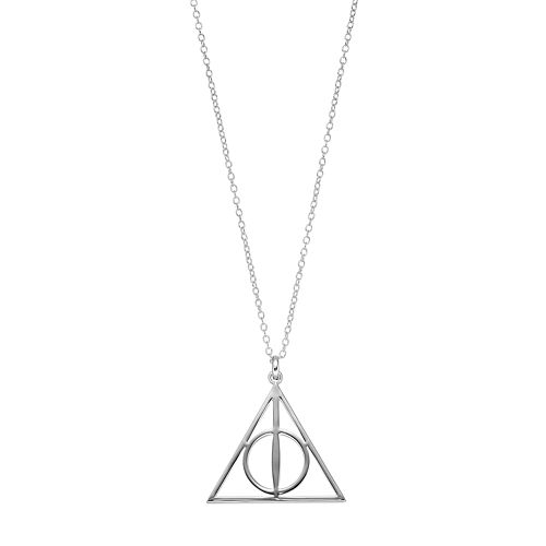 Harry Potter Silver Plated Sign of the Deathly Hallows Pendant Necklace