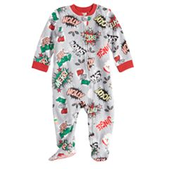 Baby/Infant Jammies For Your Families Comic Book Microfleece Blanket Sleeper One-Piece Footed Pajamas