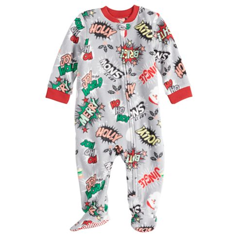b346c46470 Baby Infant Jammies For Your Families Comic Book Microfleece Blanket  Sleeper One-Piece Footed Pajamas