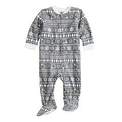 Baby/Infant Jammies For Your Families 12 Days of Christmas Five Golden Rings Fairisle Microfleece Blanket Sleeper One-Piece Pajamas