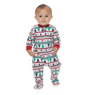 Baby/Infant Jammies For Your Families Fairisle Blanket Sleeper Microfleece One-Piece Pajamas