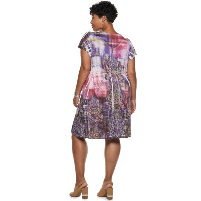 Plus Size World Unity Bollywood Short Sleeve Dress