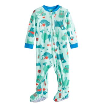 Baby/Infant Jammies For Your Families Dog & Cat Pattern Microfleece One-Piece Pajamas