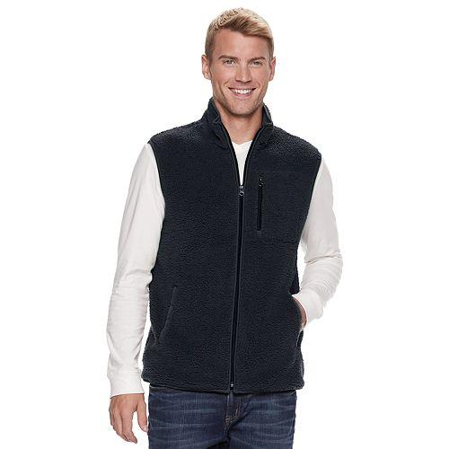 Men's SONOMA Goods for Life™ Modern-Fit Sherpa Fleece Vest