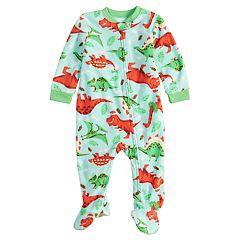 Baby/Infant Jammies For Your Families Dino Microfleece Blanket Sleeper One-Piece Pajamas