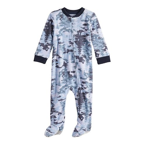 Baby/Infant Jammies For Your Families Holiday Camouflage Microfleece Blanket Sleeper One-Piece Pajamas